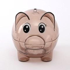 갈색 투명 돼지저금통/ 용돈저축 동전저금통