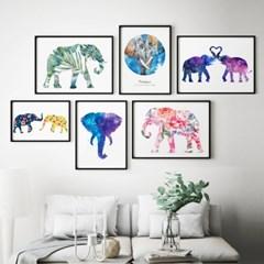 코끼리 액자 풍수에 좋은 그림 모음