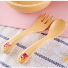 핑크퐁 옥수수베이비스푼포크세트 옐로우