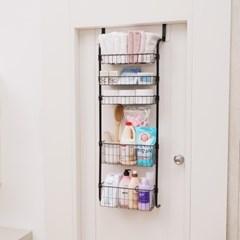 이지홈 문에착 5단 / 문걸이 수납 선반 행거 정리함 욕실선반 주방선