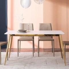 잉글랜더 리우 마블화이트 통세라믹 4인용 식탁(의자 미포함)