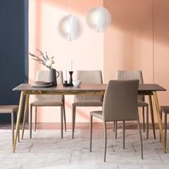 잉글랜더 리우 그레이 통세라믹 6인용 식탁(의자 미포함)