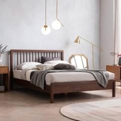 몬트리올 전체 고무나무 원목 침대(매트제외-Q)