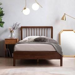 몬트리올 전체 고무나무 원목 침대(DH 7존 라텍스 독립매트-SS)