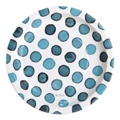 도트수채화 파티접시 23cm 6입 [블루]_(11949211)