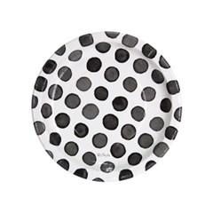 도트수채화 파티접시 18cm 6입 [블랙]_(11949215)