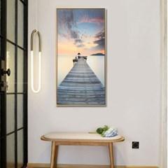 바다와 다리 캔버스 그림액자/개업선물 벽걸이액자