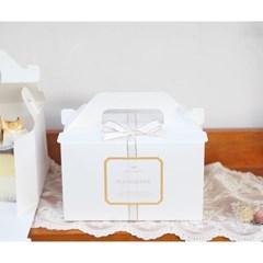 조각케익 상자 포장세트 (2set/박스+리본+스티커)_(1712609)