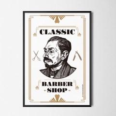 클래식바버샵 M 유니크 인테리어 디자인 포스터 레트로 이발소