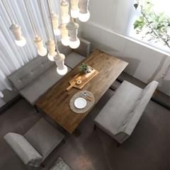 순수 원목 6인 식탁테이블