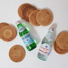 라탄 원형 컵받침 코스터