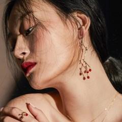 [매디]매화 Red Blossom Drop Earring
