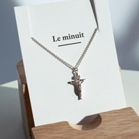 Silver crucifix necklace