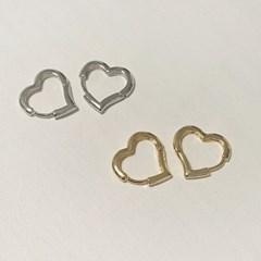 하트 링 원터치 귀걸이 (2colors)