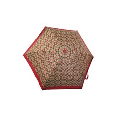 COACH 코치우산 시그니처 크레용하트 미니 우산 91364 KH/RD