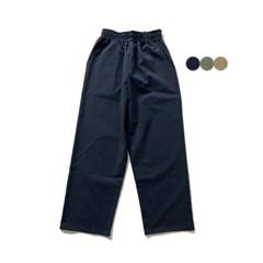 코튼 와이드롱 밴딩 팬츠 COTTON WIDE LONG BANDING PANTS(3color)