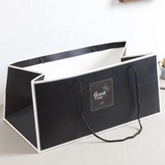 직사각블랙쇼핑백 21x49cm 쇼핑백 선물 포장 DIY 소품_(1710616)
