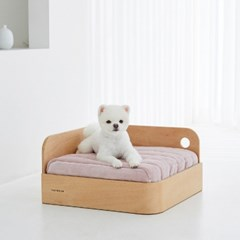 [무아유] 벨로아 침대 + 라운드 프레임 세트