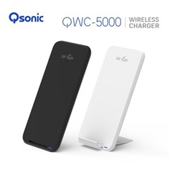 큐소닉 QWC-5000 스마트폰 무선충전기(White / Black)
