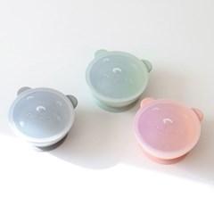 해피밀 실리콘 이유식 볼 3color