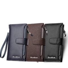 [Bison Denim] 지퍼 클러치 지갑 N2315/핸드폰지갑/장지갑