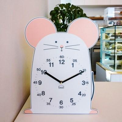 [BEZIT] 탄생을 축하하는 화이트 마우스 무소음 벽시계