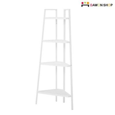 이케아 LERBERG 4단 코너선반 (화이트)/철제선반/공간활용