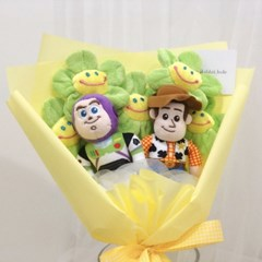 토이스토리 우디&버즈 인형 꽃다발