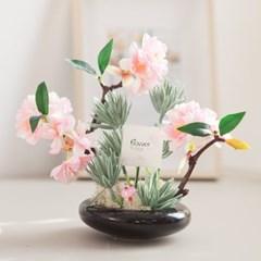 청옥 벚꽃 화분set 18cmP 조화 인테리어 소품_(1720078)