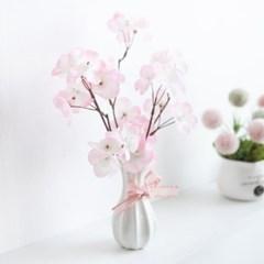 리즈벚꽃화병set 24cmP FMFUFT 조화 조화화분_(1720075)