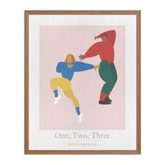1,2,3 패브릭 포스터 액자