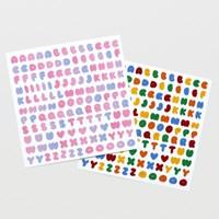 On graphic. ABC sticker multicolor 2type