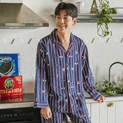 알콩단잠 남성홈웨어 미키라인 레이온 라운지웨어 잠옷세트 (미키마