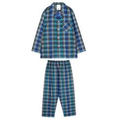 알콩단잠 남자잠옷 로얄체크 면기모 홈웨어 라운지웨어 세트