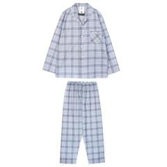 알콩단잠 남자잠옷 심플체크 면 홈웨어 라운지웨어 세트