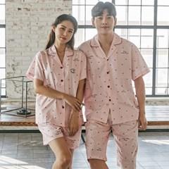 알콩단잠 커플실내복 스몰하트 순면 수면잠옷 (핑크)