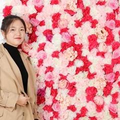 플라워월 조화꽃벽 / 벽장식 인조꽃