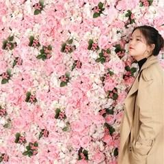 플라워월 조화 꽃벽 / 월데코 인조꽃 벽장식