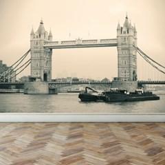 런던 타워 브릿지 고급인테리어벽지 풍경디자인월