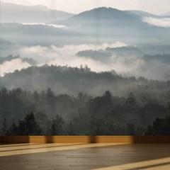 뮤럴아트 뮤럴벽지 맞춤제작벽지 안개가 낀 산