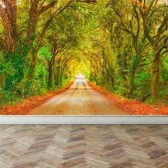 벽이 아트가 된다 뮤럴벽지 나무가있는 직선도로