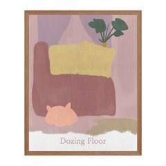 Dozing Floor 패브릭 포스터 액자