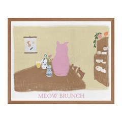 MEOW BRUNCH 패브릭 포스터 액자