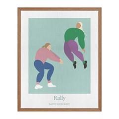 Rally 패브릭 포스터 액자