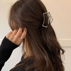 [2 color] 메탈집게핀 오각 올림머리 반묶음핀