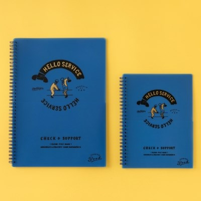 [Greetinglife] CHALKBOY_CLEAR FILE BOOK_A4_블루