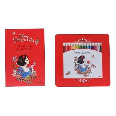 디즈니 프린세스 컬러링북+색연필 SET (3 option)