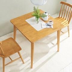 소이 고무나무원목 2인 식탁 (의자미포함)_(1173726)
