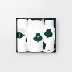 [메르베] 나무친구들 출산선물세트(배냇저고리+속싸개+_(1400108)