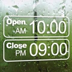 그래픽스티커 포인트스티커 레터링 AM PM Open Close